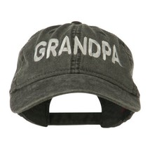 Wording of Grandpa Embroidered Washed Cap - Black OSFM - $19.92