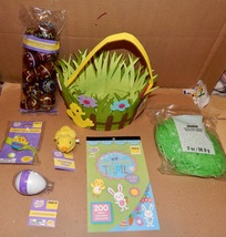 Easter Mix Lot 6 Items Basket Hopping Chic Grass & Eggs Bracelet Stickers 163P - $12.49
