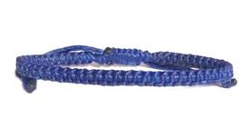 Fair Trade Blue Wax Cotton Cord Thai Buddhist Wristband Handcrafted Wris... - $6.32