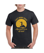 Mens Can't Work Today My Arm Is In A Cast T-Shirt Funny Fishing Fathers ... - $35.99+