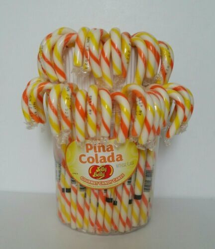 Primary image for Jelly Belly ~ Pina Colada Gourmet Candy Canes- 15 pack