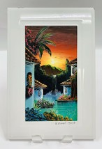 Painting on tile Xcaret Mexico Hand-Painted tile signed Picon Lopez 2006 - £14.93 GBP