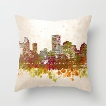Throw Pillow Cushion case Made in USA Design 46 City Cityscape art L.Dumas - $29.99+