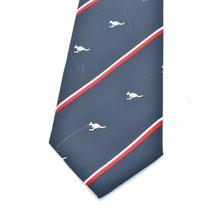 Austico Kangaroos Blue Red White Striped Tie Necktie - $11.87
