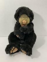 Folkmanis black bear cub baby hand plush puppet - $29.69