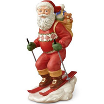 Lenox Santa Skiing Figurine Annual 2013 Downhill Dash Ski Claus Christmas NEW - $34.55