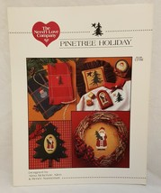 Christmas Pinetree Holiday Counted Cross Stitch Pattern Leaflet Book Nee... - $12.99