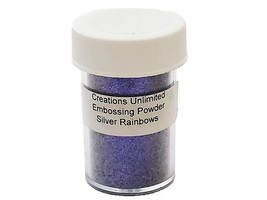 Creations Unlimited Sparkling Embossing Powder, Silver Rainbows