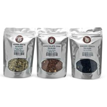 Yerba Mate, Chocolate Chai, Ginger Peach Loose Leaf Tea Pack served ICED or HOT - $14.84+