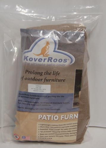 KoverRoos UPH0252 Breathable Firepit Cover Color Toast Storage Pouch