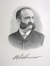 WASHINGTON CONNOR Walls Street Exchange New York Financier - 1895 Portra... - $13.49
