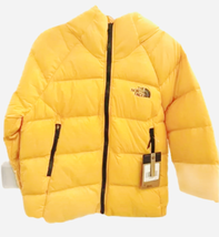 NWT The North Face Hyalite Down Hoodie Hoody Jacket Women Yellow Small image 1