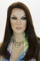Dark Brown Brunette Long Premium Remy Human Hair Lace Front Straight Wigs - $620.72