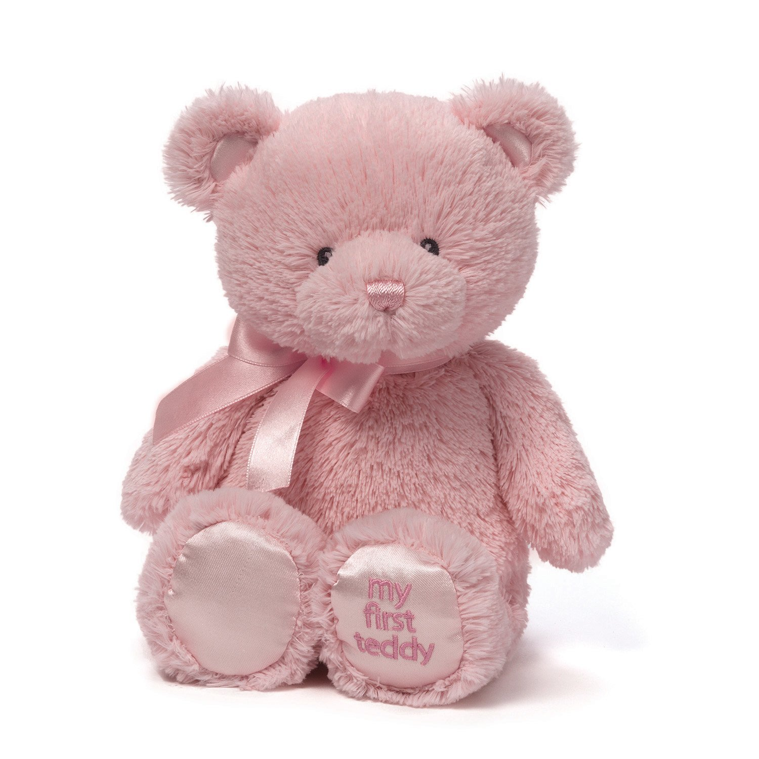 "Primary image for Baby Gund My First Pink Teddy Bear Plush 14"" Stuffed Animal Embroidered Soft"