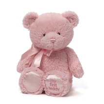"Baby Gund My First Pink Teddy Bear Plush 14"" Stuffed Animal Embroidered ... - $18.95"