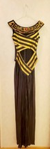 Women's Egyptian Costume Gold Black Small Nile Cleopatra Queen Goddess  - $44.55