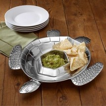 Wilton Armetale Turtle Chip and Dip Metal Serving Tray - €60,47 EUR