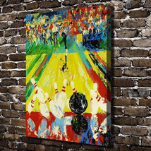 "Leroy Neiman ""Bowling Landscape"" HD Canvas Print large wall picture 32x24"" - $51.47"