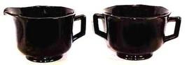 Molly Black Glass Creamer Sugar Imperial  Elegant Depression Glass - $19.99