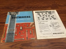 Vintage National Machinery Co. Boltmakers And Progressive Headers Brochu... - $19.99