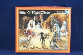 O Night Divine Nativity Scene 1000 Piece Jigsaw Puzzle by White Mountain... - $15.97