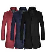 2018 New Fashion Autumn and Winter Casual Men's Wool Coat Men's Business... - $59.16