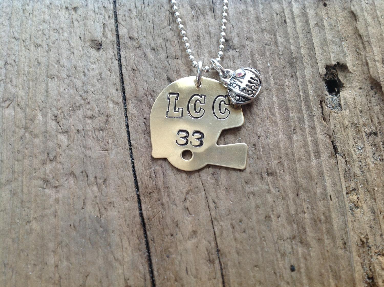 Football Mom/Girlfriend Helmet Sports Necklace Football Jewelry image 2