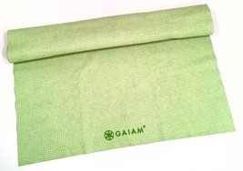 GAIAM On The Go No Slip Yoga Travel Mat Towel Microfiber Citron Green EN... - $17.33