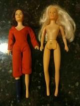 "Vintage 1977 Charlies Angles Jill & Sabrina 9"" Dolls Spelling Goldberg H... - $32.22"