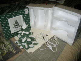 Fitz & Floyd Holiday Hamlet Large Christmas Tree 19/713 with box and lig... - $65.00