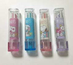 PEANUTS SNOOPY Eraser Lip Type Case Cute Rare Cute Red Pink Blue Purple - $24.97