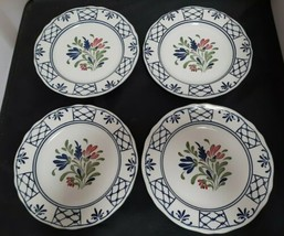 "Johnson Brothers Provincial Set of 4 - 7"" Salad Plates Scalloped Excellent - $19.35"