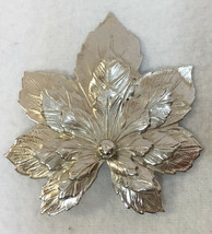 Maple Leaf Brooch Pin Sarah Coventry SaC Cut Out  Layered Leaf Leaves Al... - $6.92