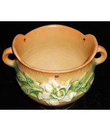 1940s/50s Roseville Pottery GARDENIA PATTERN Hanging Basket MADE IN OHIO - $168.29