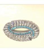 Brooch,Distinctive, Art Deco look,Blue,Czech,Vintage,High End look, - $145.00