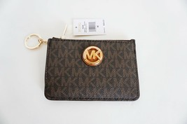 MICHAEL KORS FULTON SM COINPOUCH WITH ID KEY RING CARD HOLDER SIGNATURE ... - $38.49