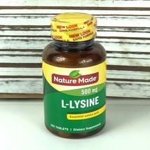 Nature Made / 500 mg L-Lysine Essential Amino Acid / 100 Tablets / 04/2023 - $11.58
