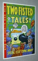 1970's EC Comics Two-Fisted Tales 31 Civil War Army comic book cover art poster - $29.99