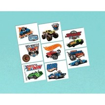 Hot Wheels Wild Racer Temporary Tattoos Favors 16 Ct Birthday Party - $2.18