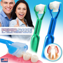 2-PK | DenTrust Periocare 3-Sided Toothbrush | Clinically Proven +Tongue Scraper - $9.95