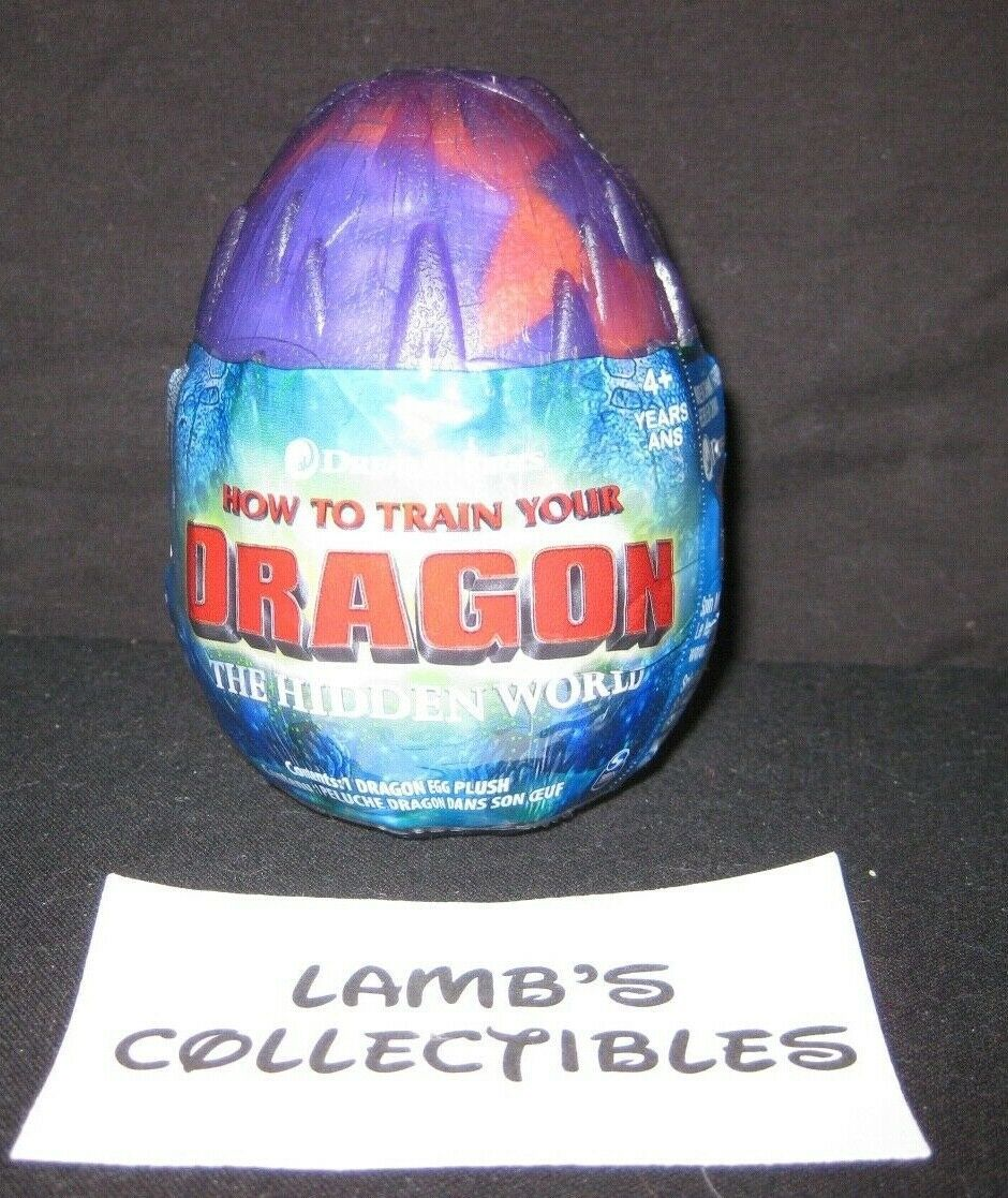 "Primary image for How to train your Dragon 3 The Hidden World purple stormfly egg 3"" purple plush"