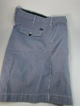 Mens Izod Blue Checked Plaid Seersucker Shorts Size 36 Cotton 29912 - $29.69