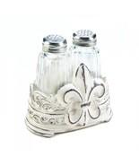 Fleur-de-lis Salt and Pepper Shaker Set Holder Kitchen Dining Tableware ... - $24.70