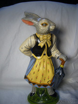 Vaillancourt Folk Art Large Lady Rabbit 12 in Beautiful Piece Signed image 1