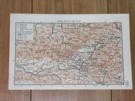 1938 ORIGINAL VINTAGE MAP OF TATRA MOUNTAINS ZAKOPANE SPIS POLAND SLOVAKIA - $19.80