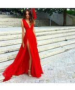 Sexy Silt Chiffon Long Prom Dresses Formal Party Gowns A Line Evening Go... - $115.00