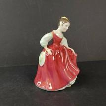 "Vintage Royal Doulton Porcelain Lady Figurine Fair Maiden HN 2434 5 1/2"" - $39.99"