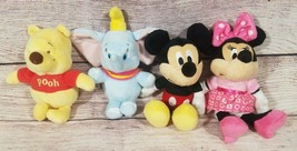 Disney Baby Plush Mini Jingler Mickey Minnie Dumbo Pooh Stuffed Rattle 7... - $29.09
