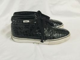 Vans Black Croc Pattern Chukka Boot LX Men 8 Women 9.5 Original Box IOB Shoe image 4