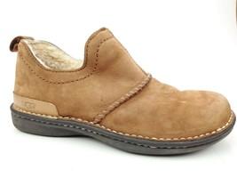 UGG Womens Shoe Bootie Brown Suede Size 7 Sheepskin Sherpa Lined - $49.45